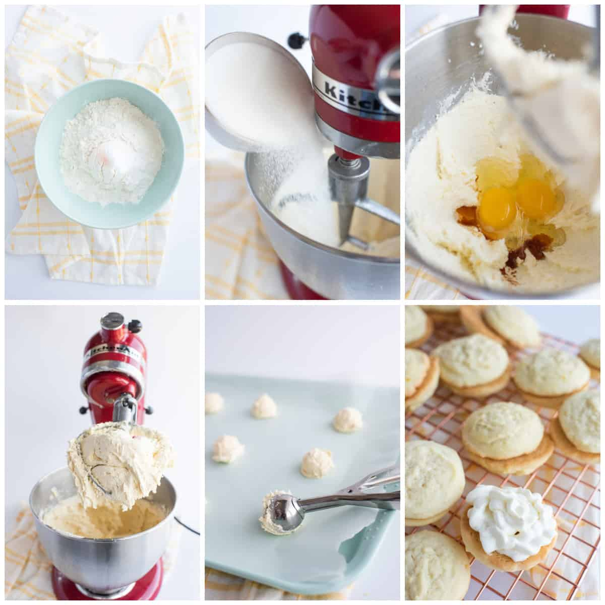Step by step photos on how to make Lemon Sandwich Cookies