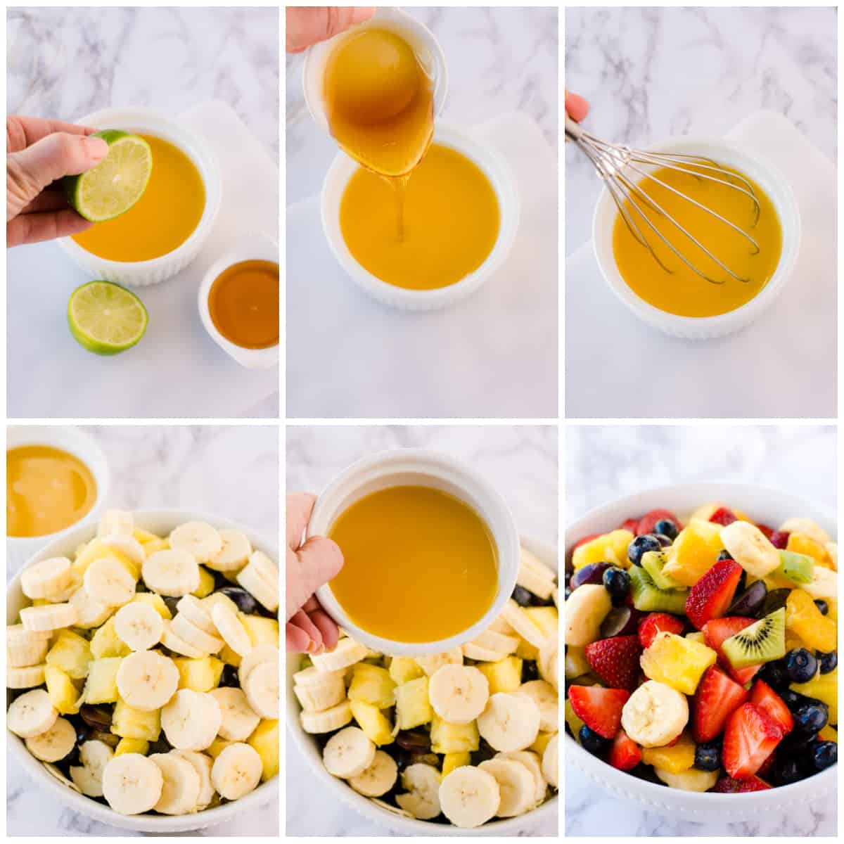 Step by step photos on how to make a Fruit Salad Recipe