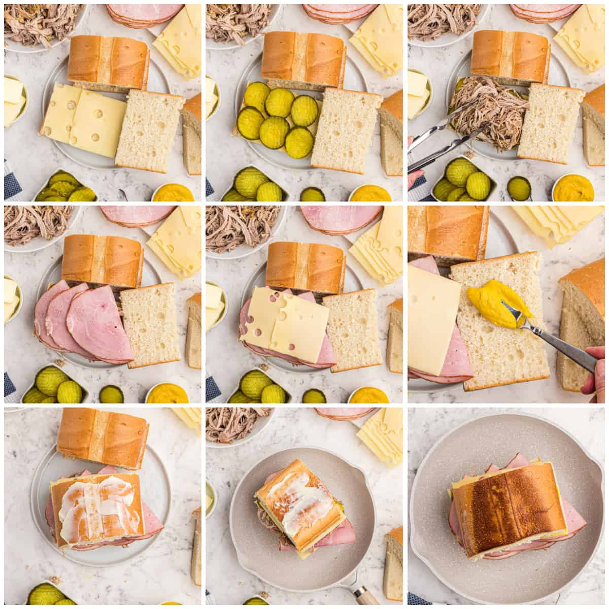 Step by step photos on how to make a Cuban Sandwich Recipe