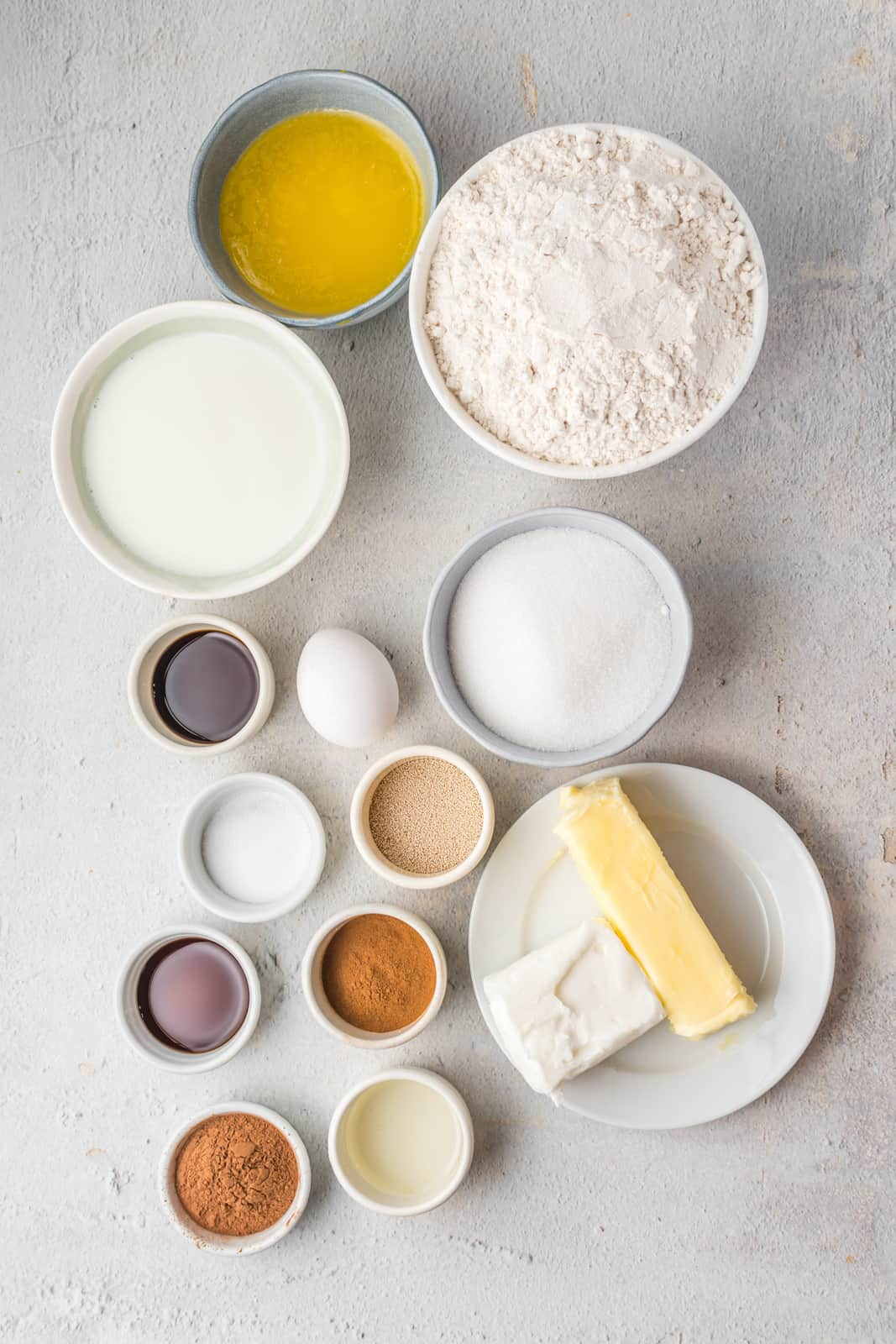 Ingredients needed to make Conchas