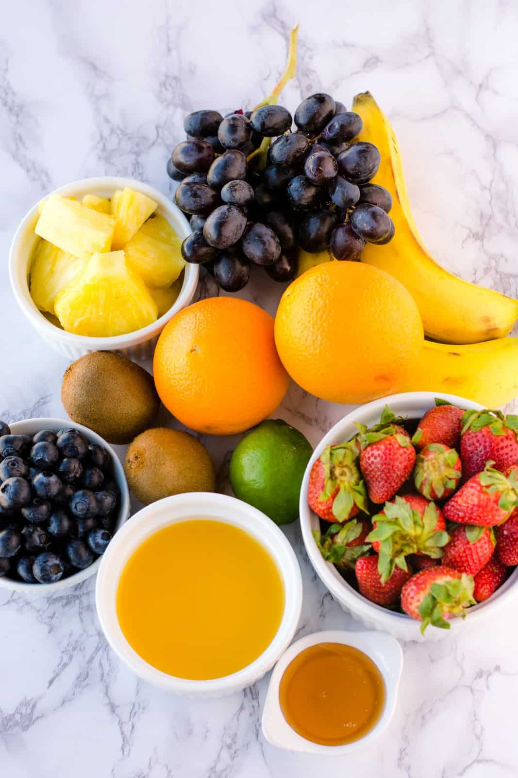 Ingredients needed to make Fruit Salad