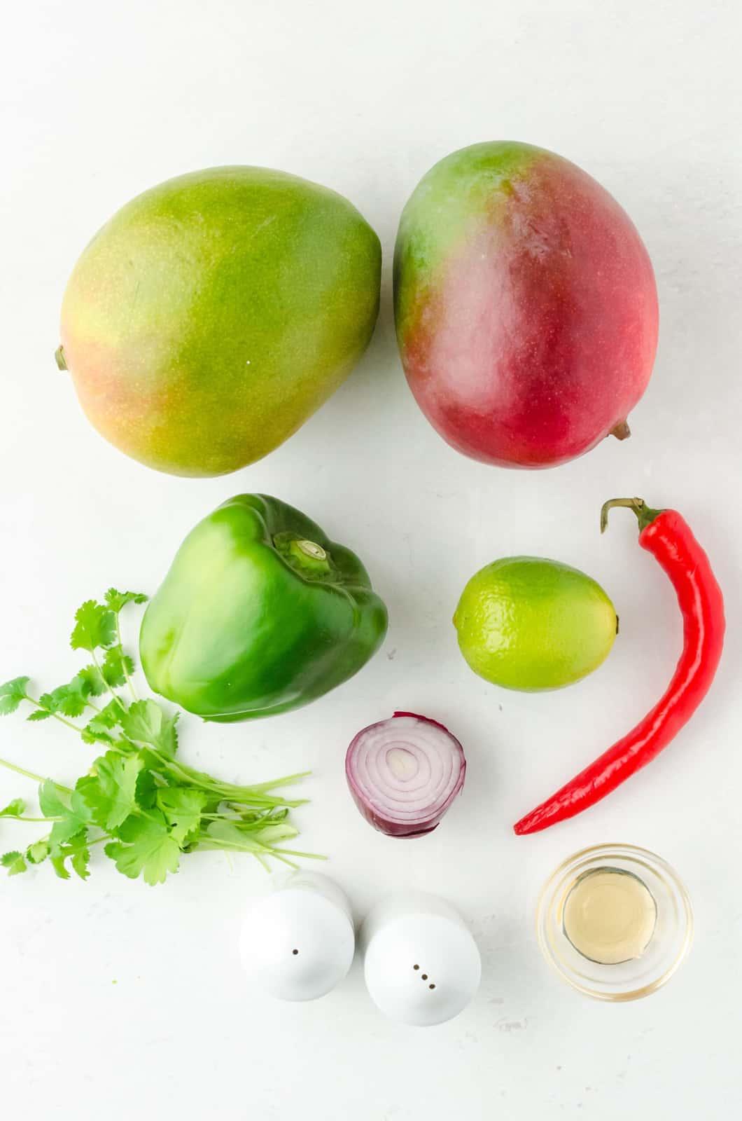 Ingredients needed to make Mango Salsa