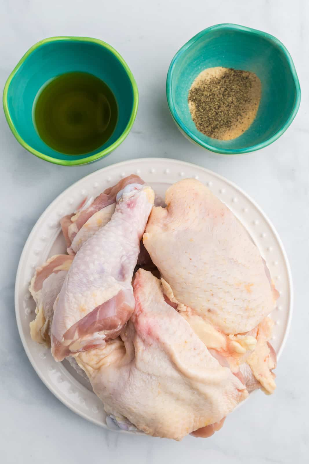 Ingredients needed to make Air Fryer Chicken