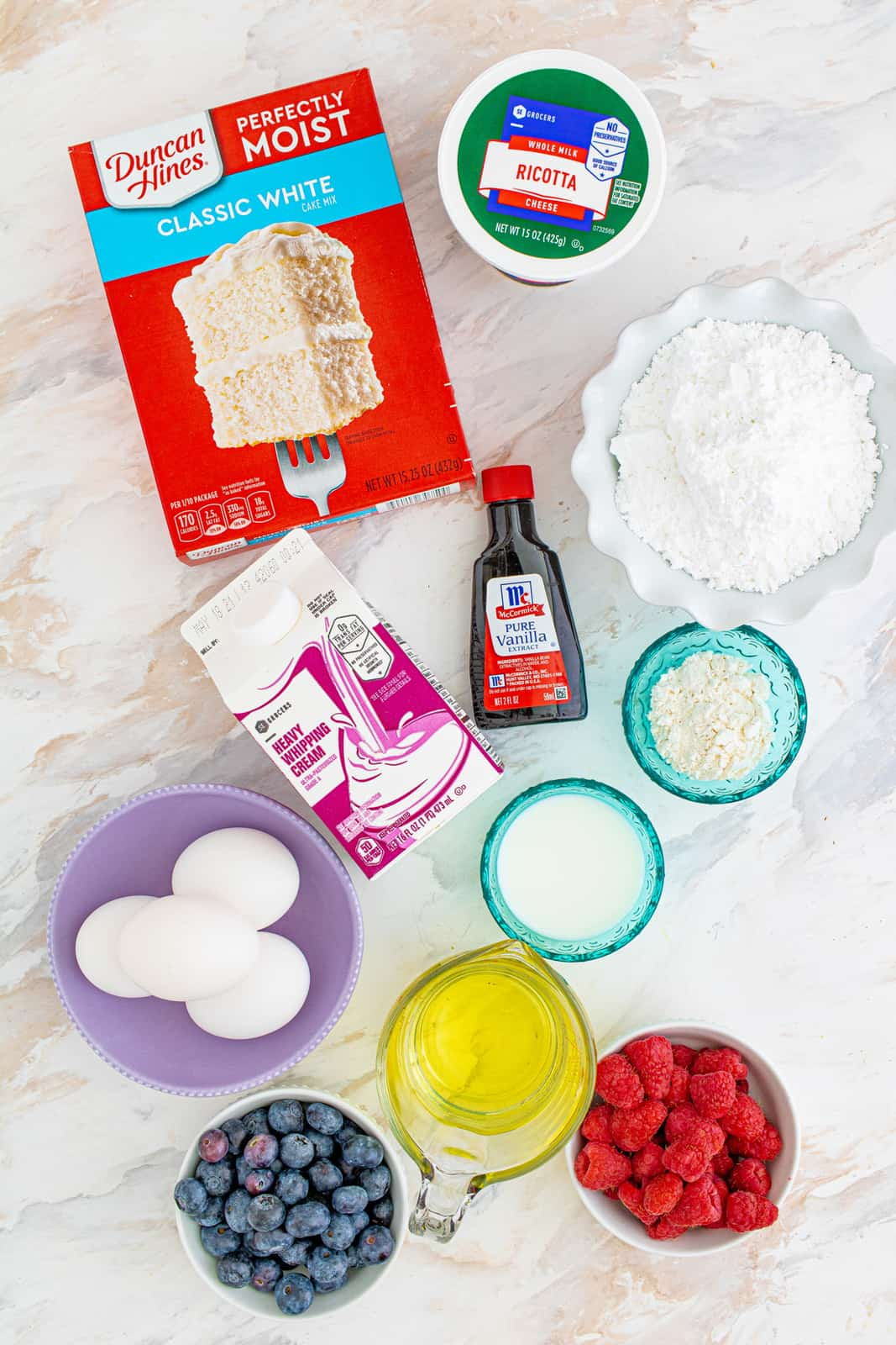 Step by step photos on how to make Berry Ricotta Cake