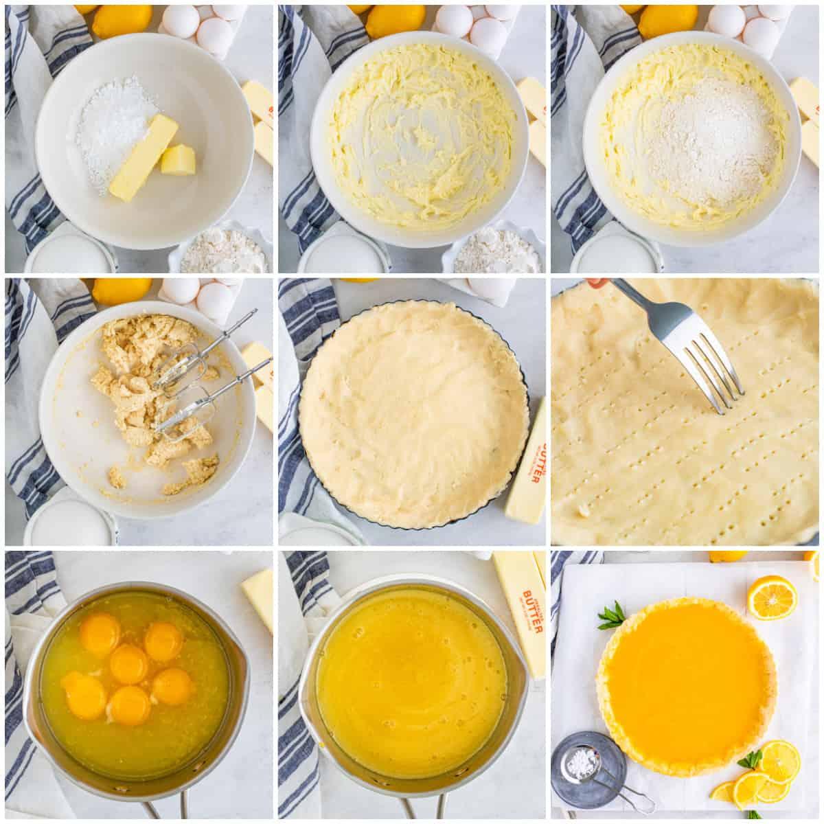Step by step photos on how to make a Lemon Tart