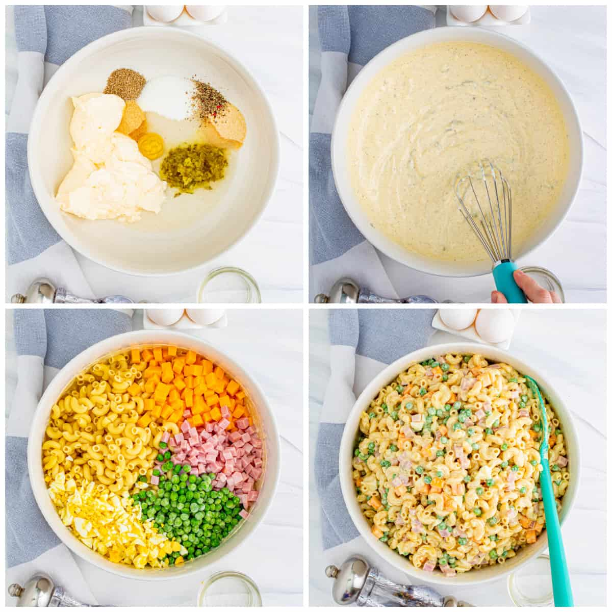 Step by step photos on how to make a Macaroni Salad Recipe