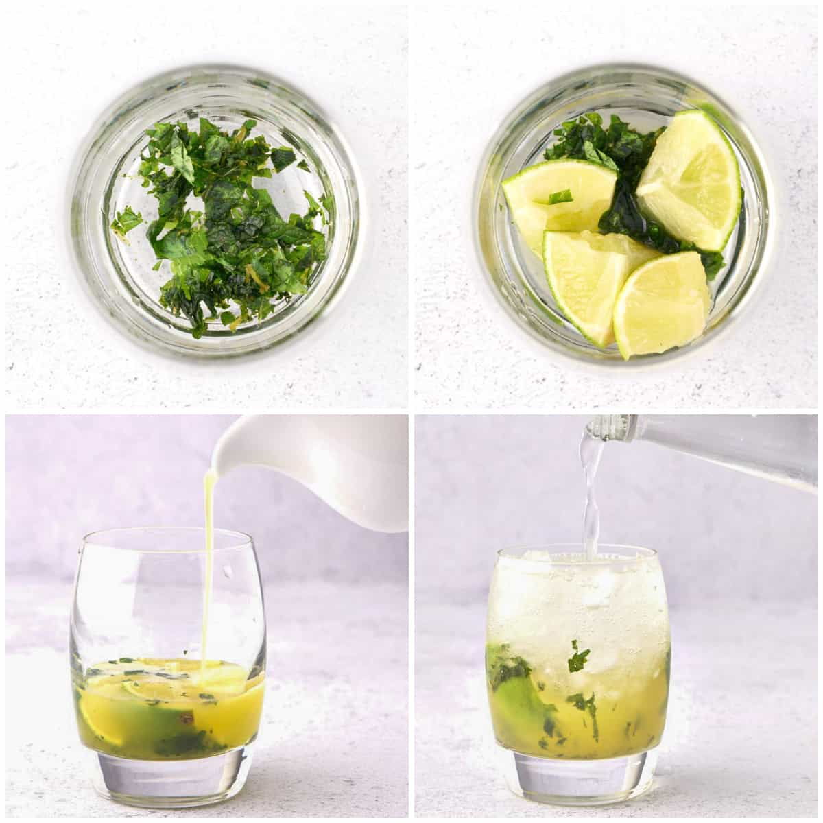 Step by step photos on how to make Pineapple Mojitos