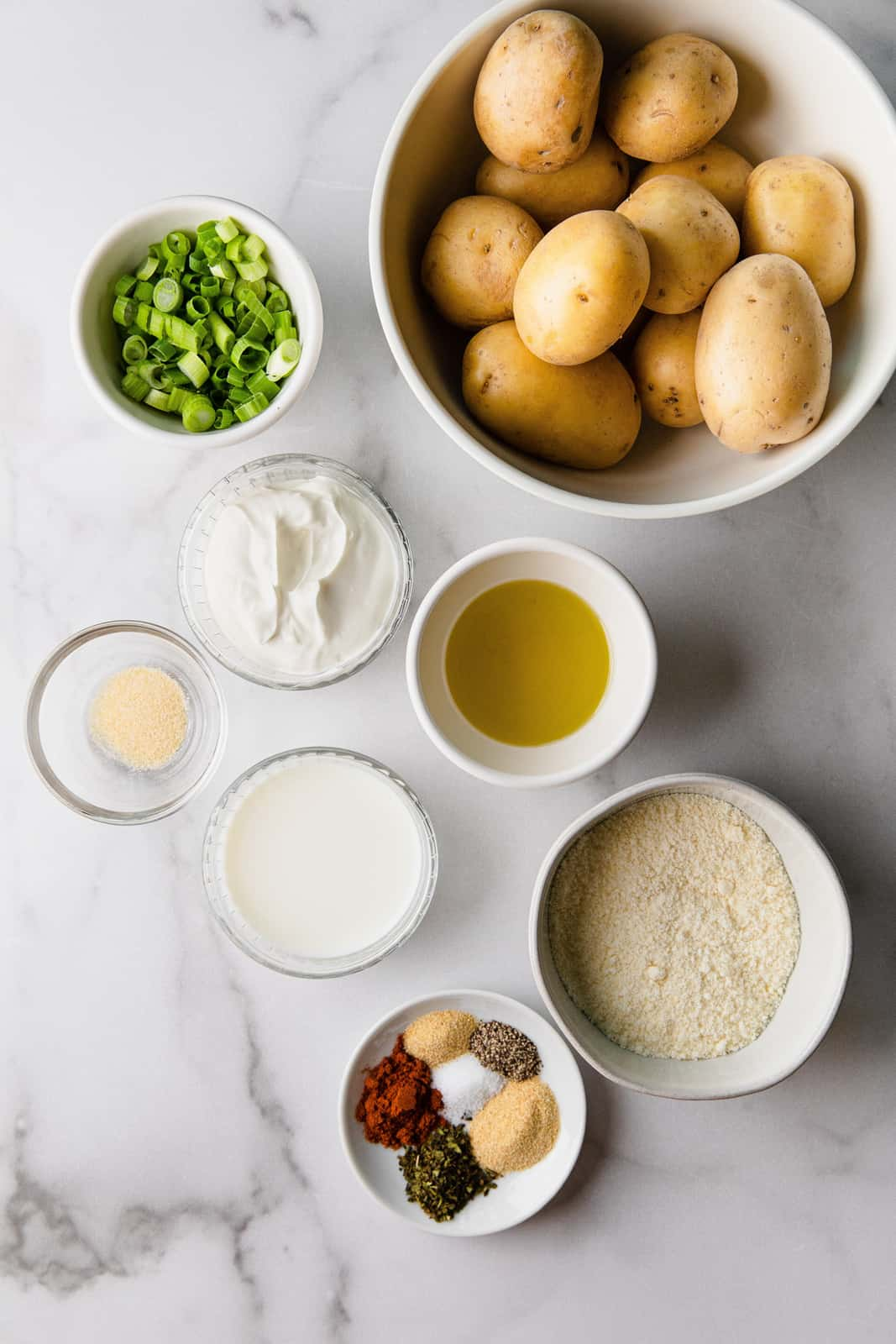 Ingredients needed to make Parmesan Potatoes