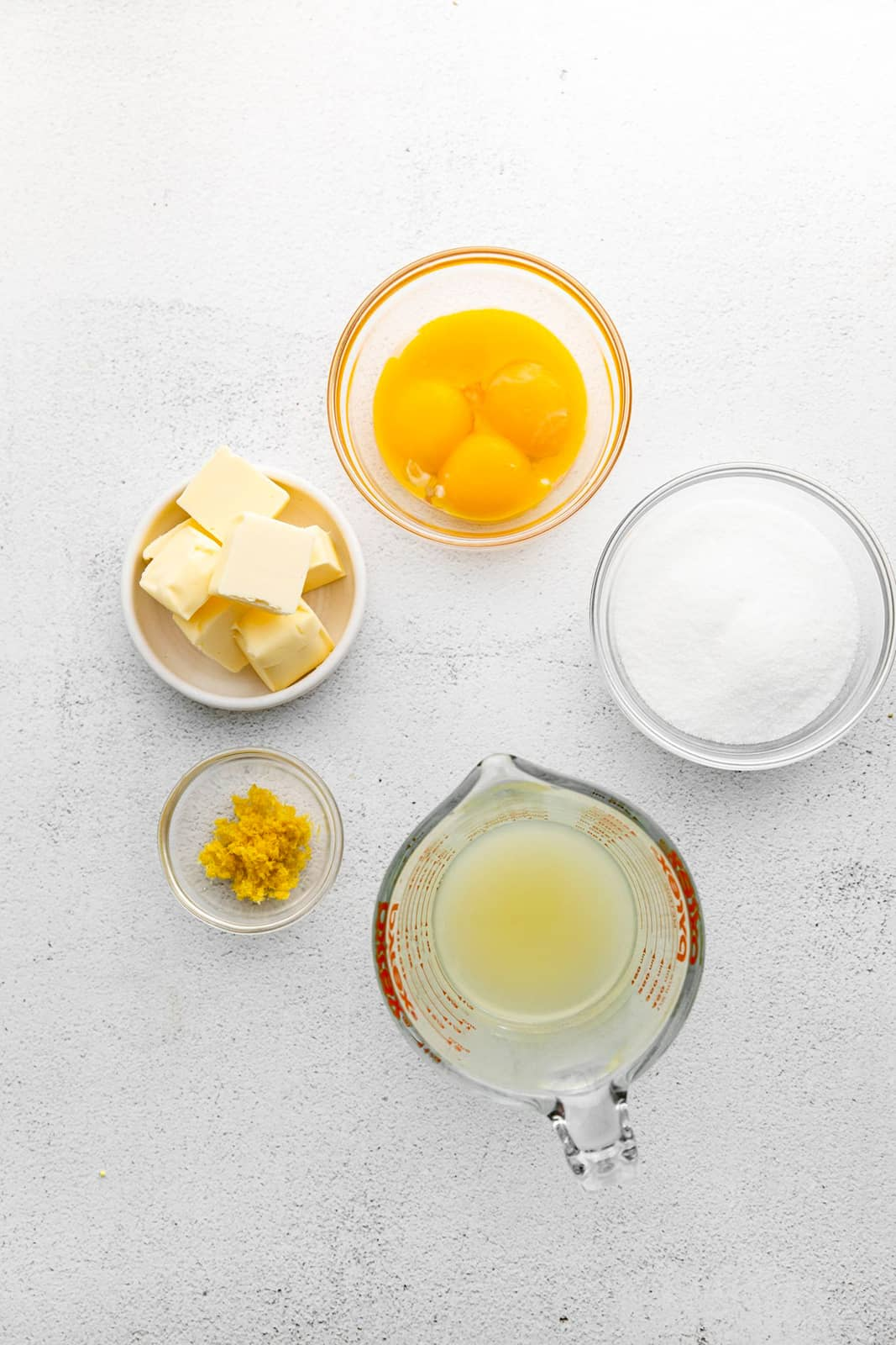 Ingredients need to make Lemon Curd