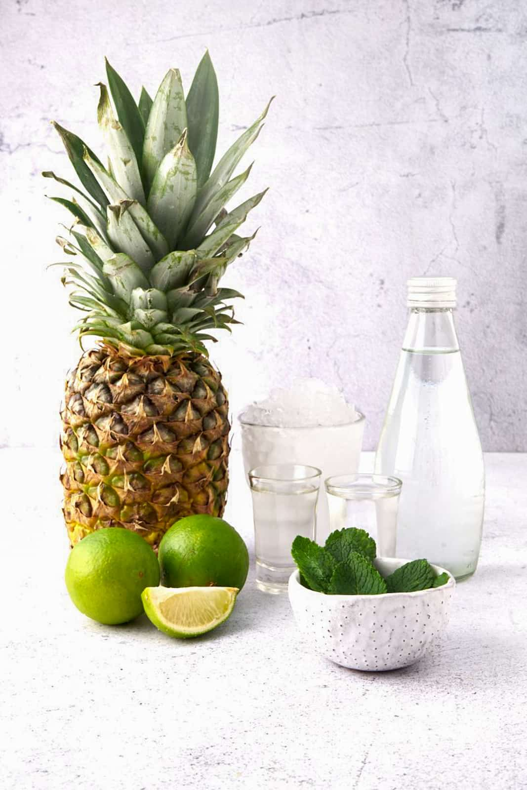 Ingredients needed to make Pineapple Mojitos