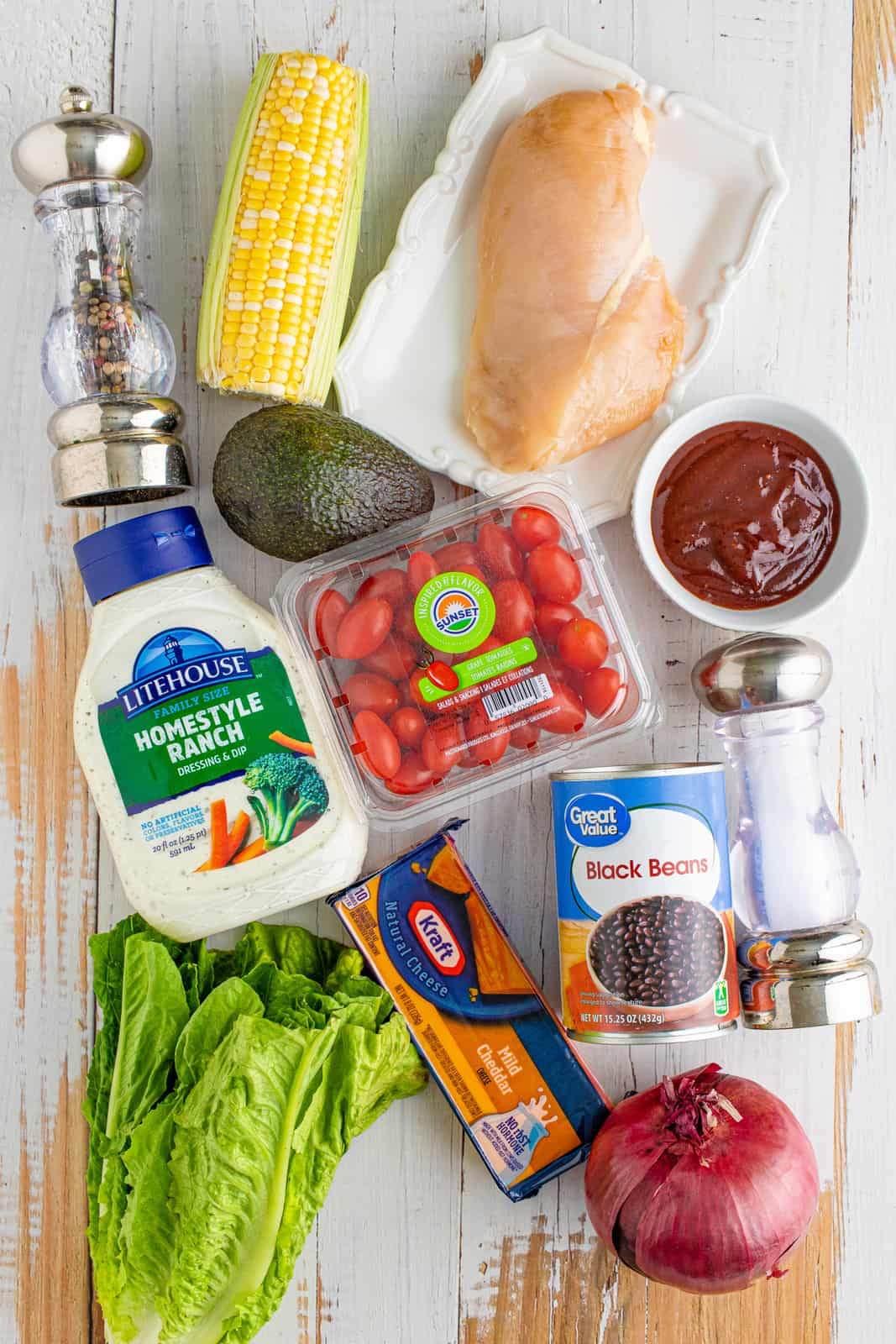 Ingredients needed to make BBQ Chicken Salad