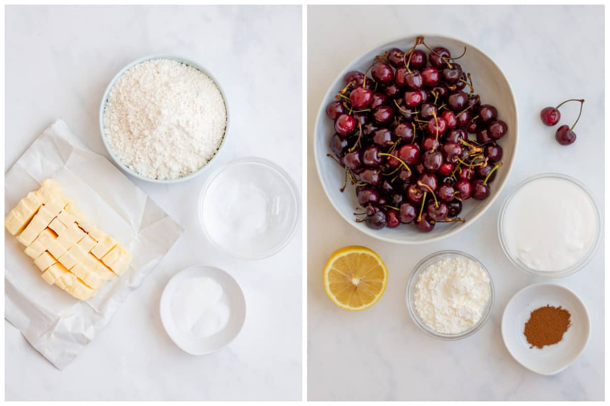 Ingredients needed to make a Cherry Pie Recipe