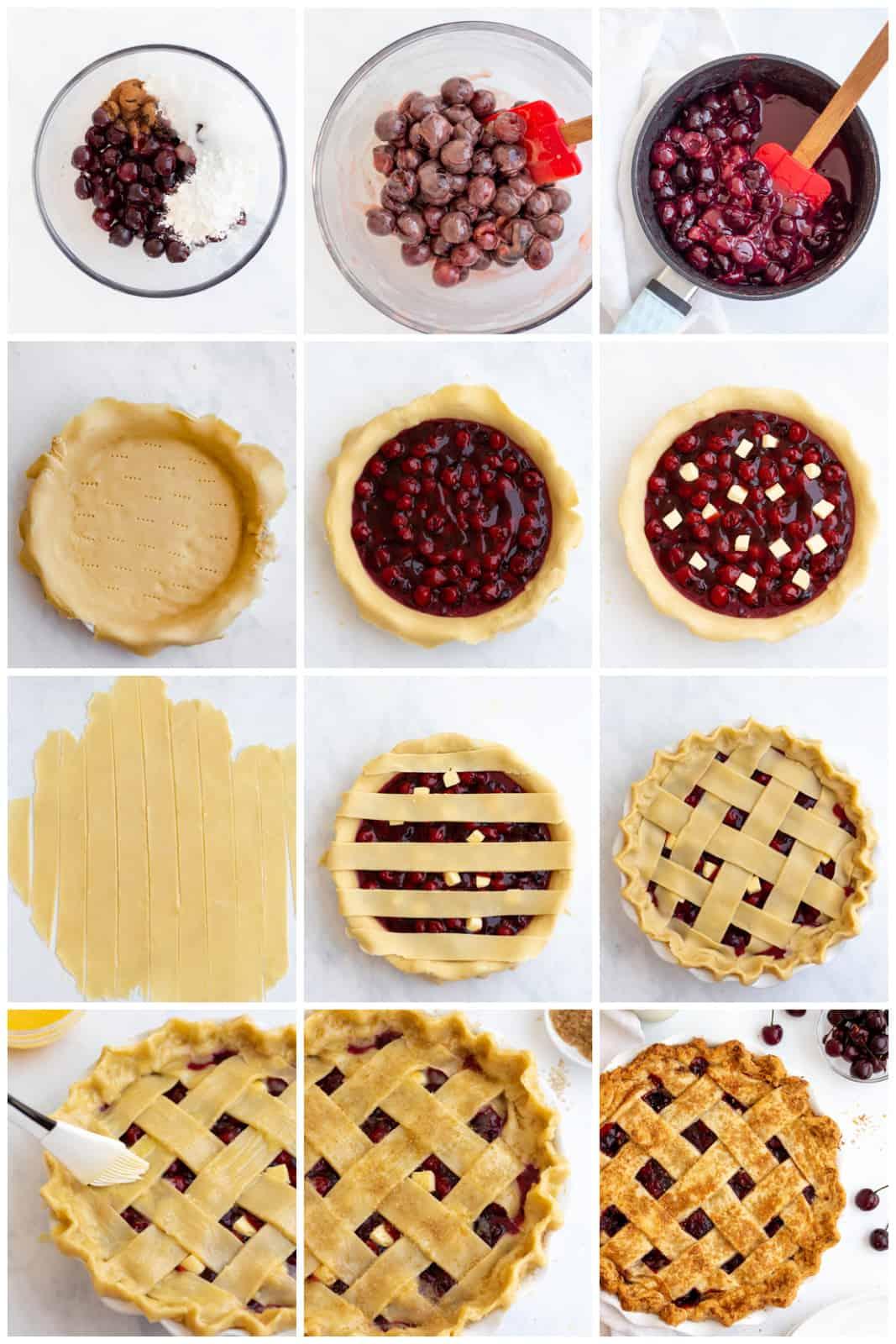 Step by step photos on how too make a Cherry Pie Recipe