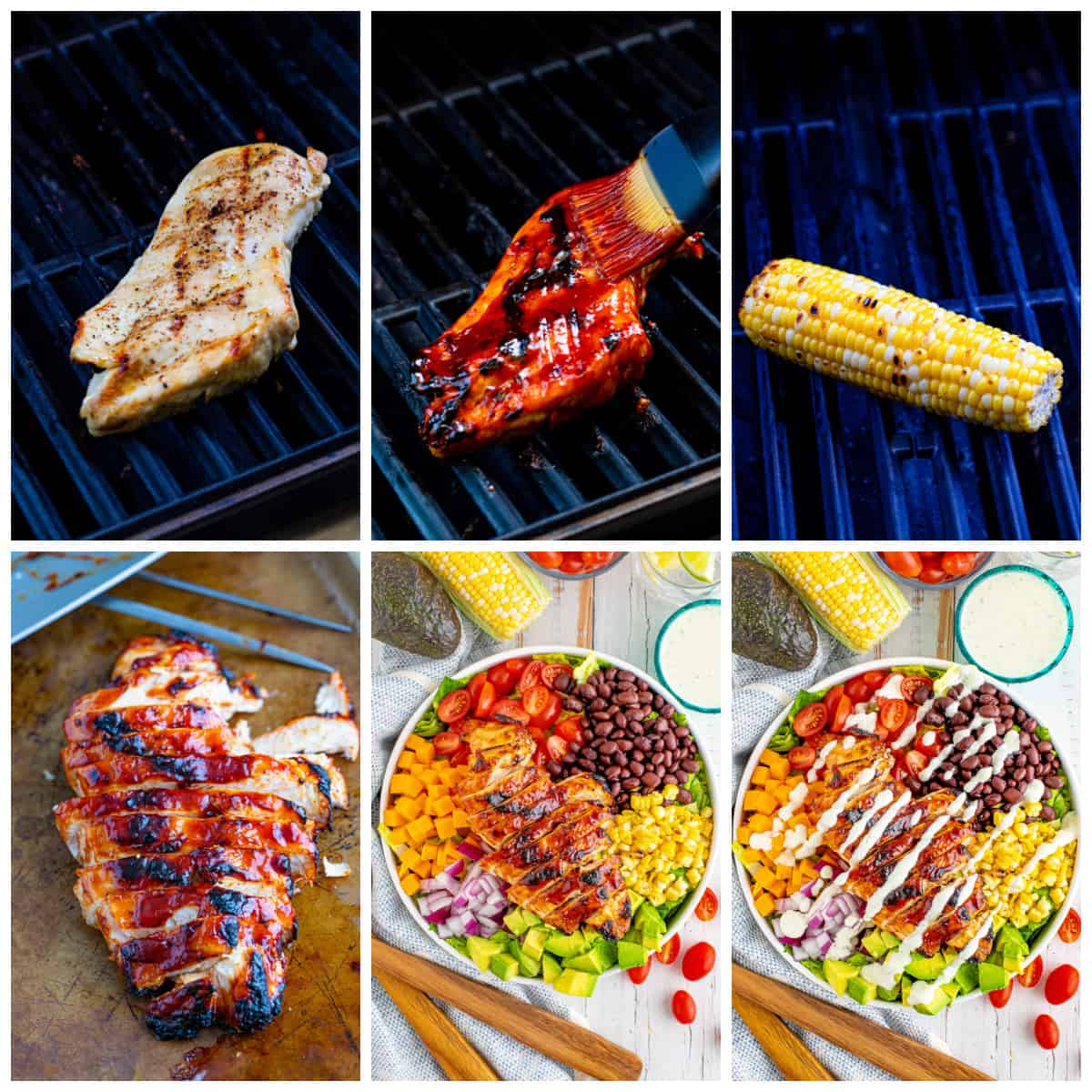 Step by step photos on how to make BBQ Chicken Salad