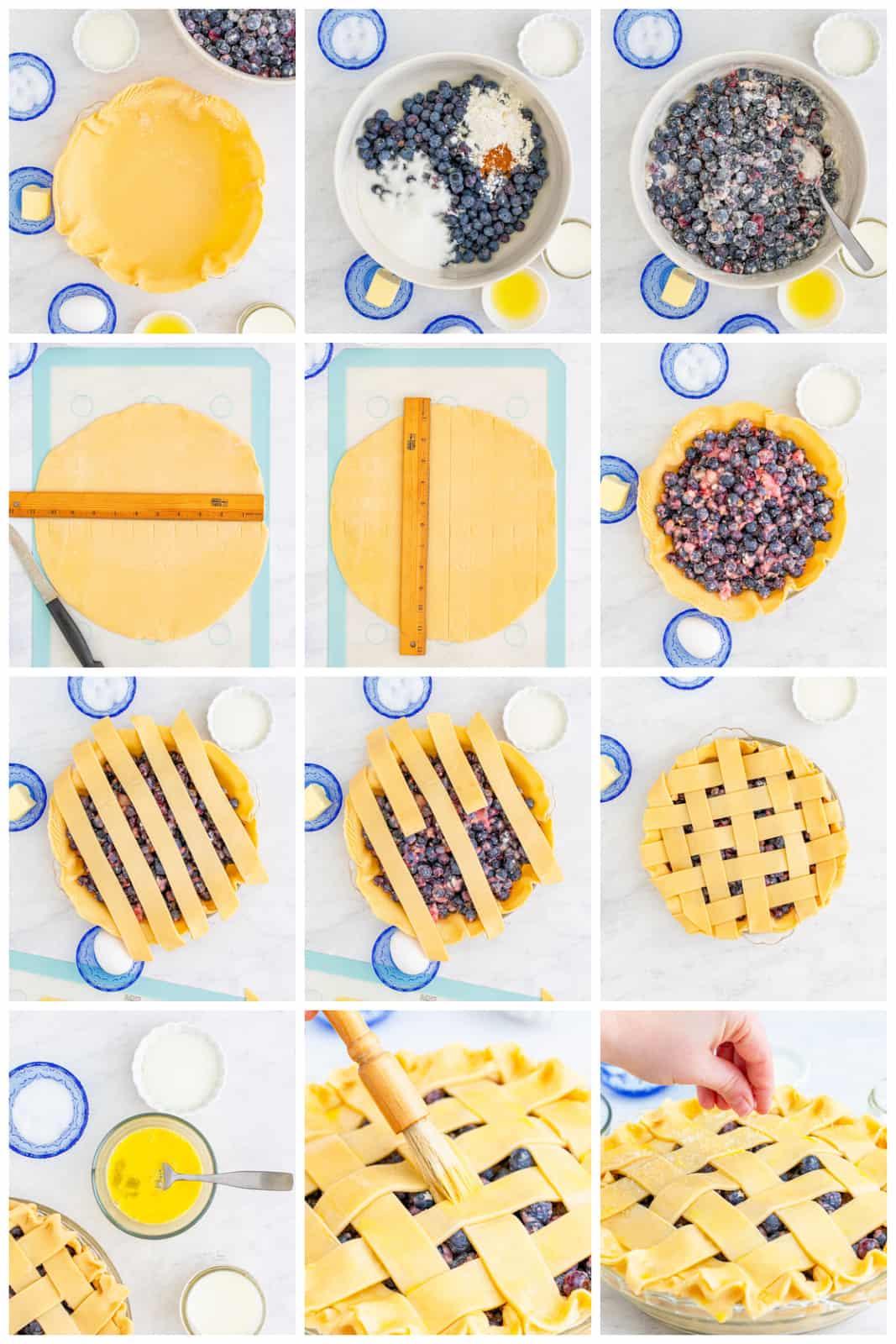 Step photos on how to make a Blueberry Pie Recipe
