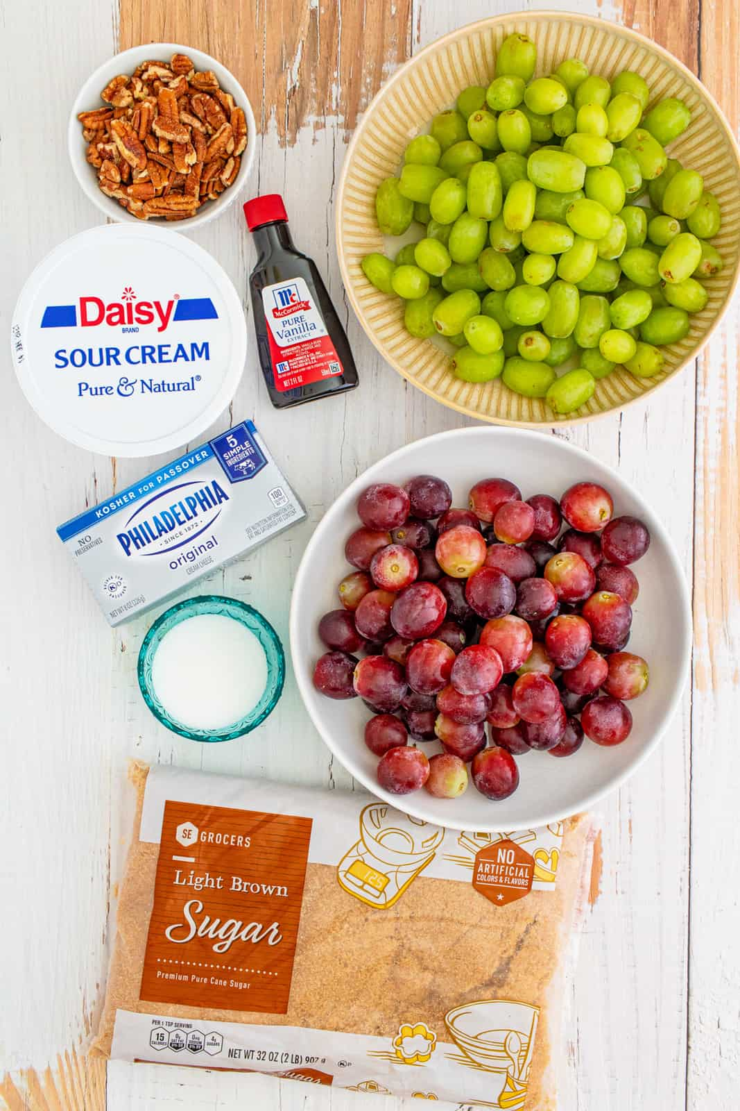 Ingredients needed to make Grape Salad