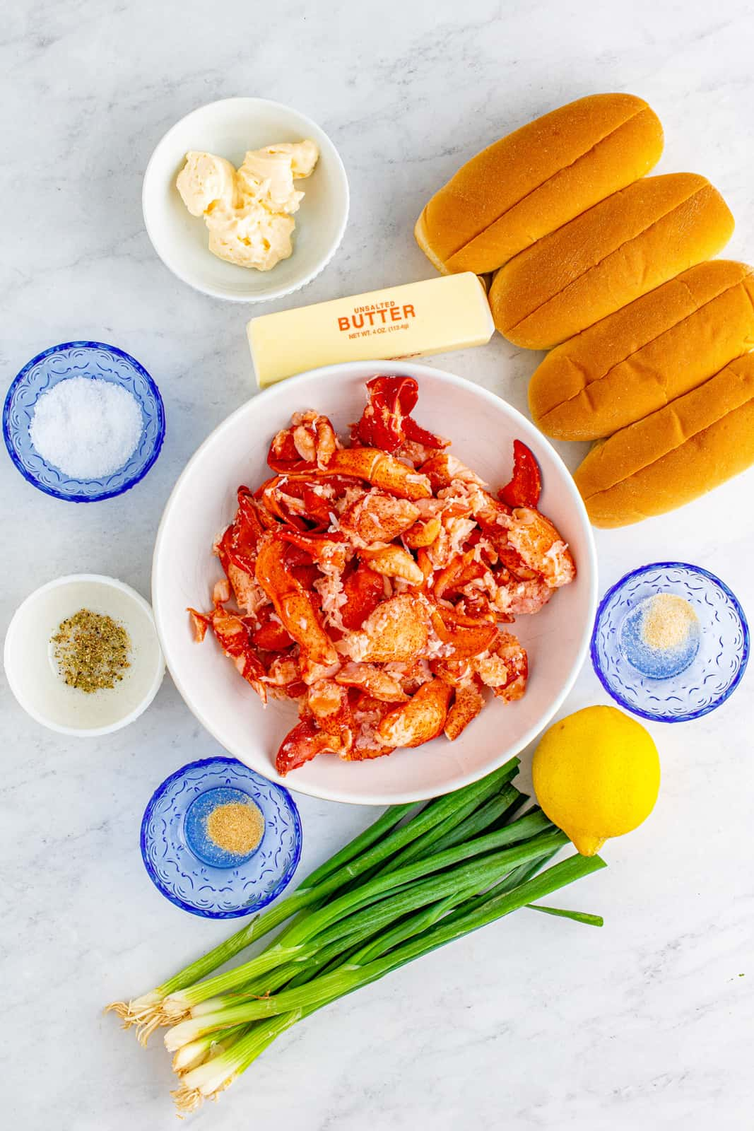 Ingredients needed to make Lobster Rolls