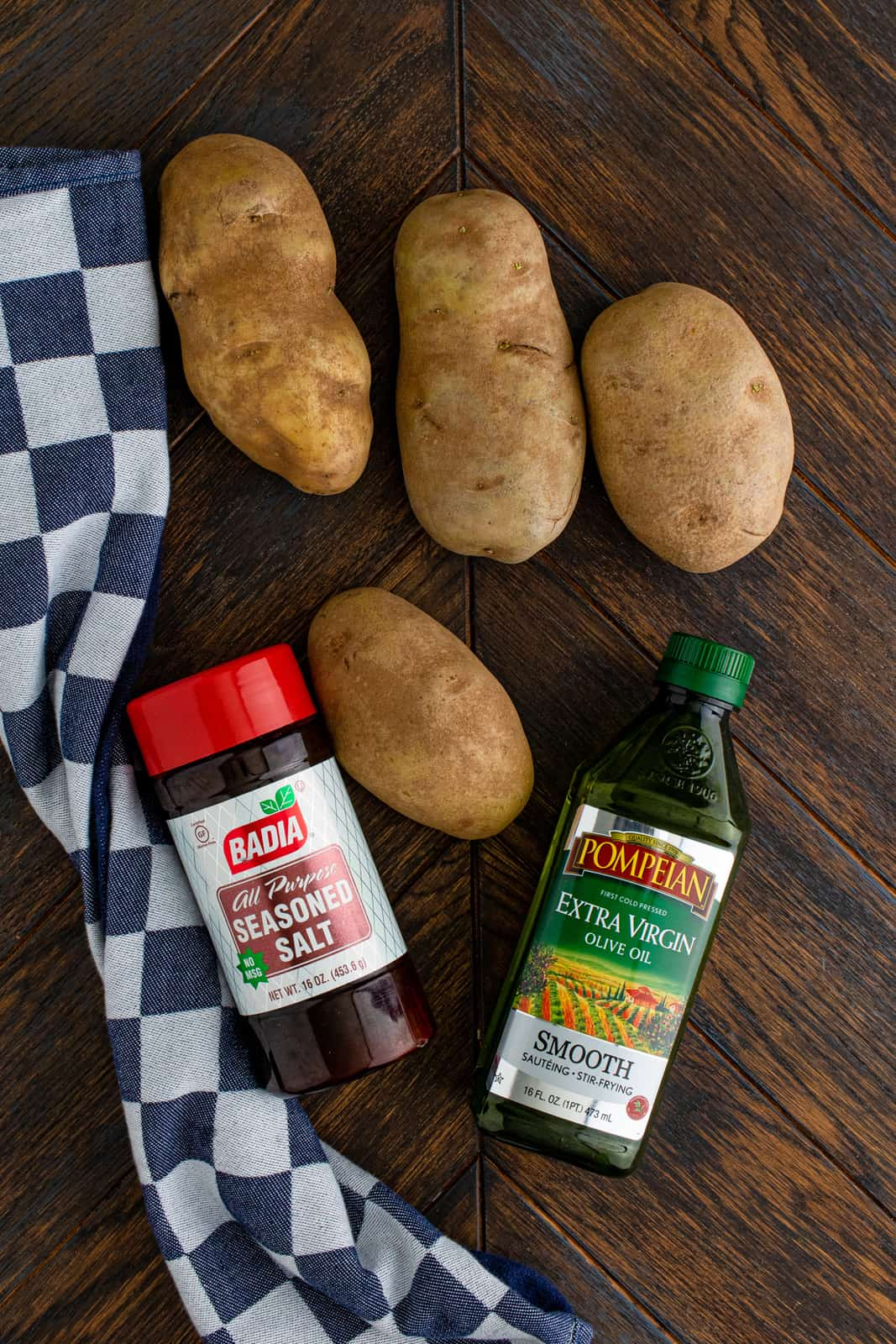 Ingredients needed to make Baked French Fries