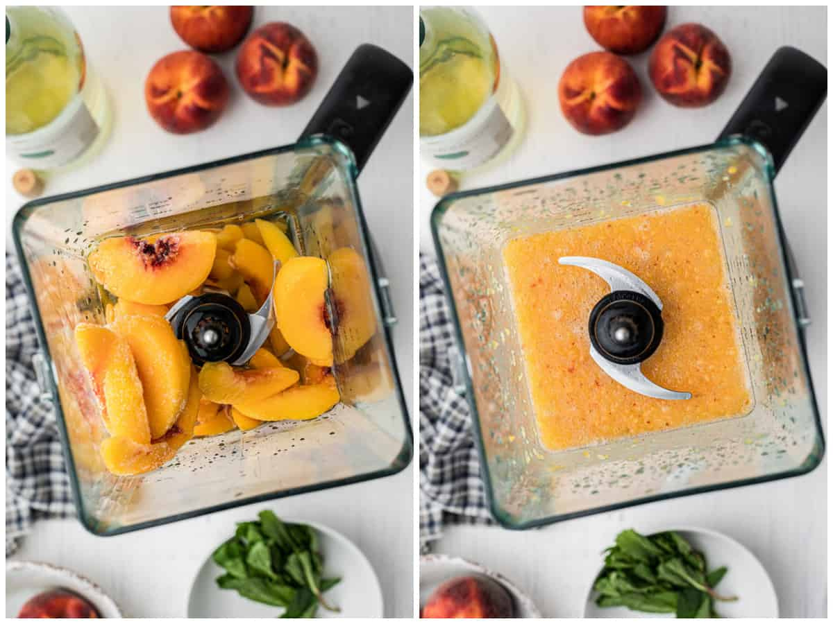 Step by step photos on how to make Wine Slushies