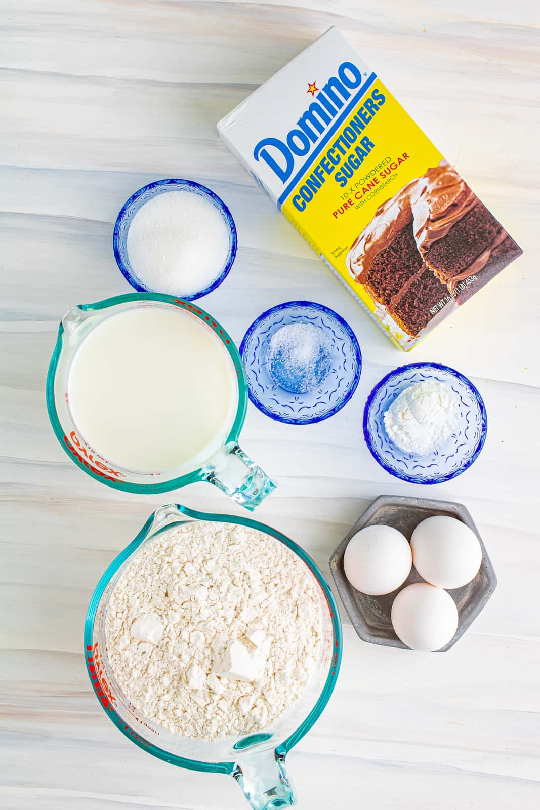 Ingredients needed to make a Funnel Cake Recipe