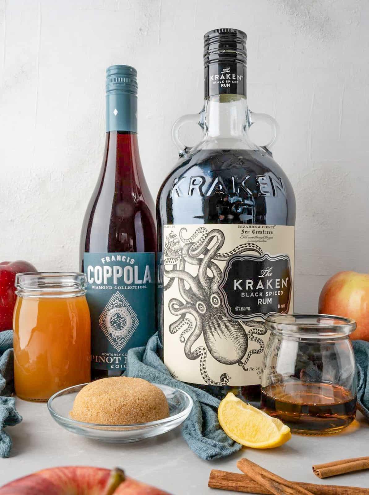 Ingredients needed to make Apple Cider Sangria