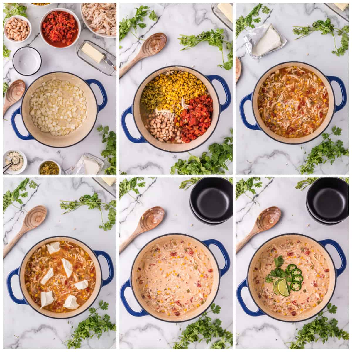 Step by step photos on how to make a White Chicken Chili Recipe.