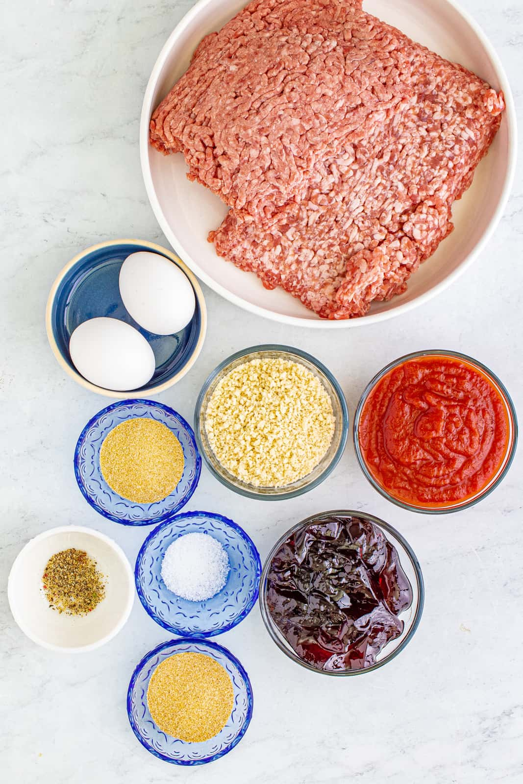 Ingredients needed to make Grape Jelly Meatballs