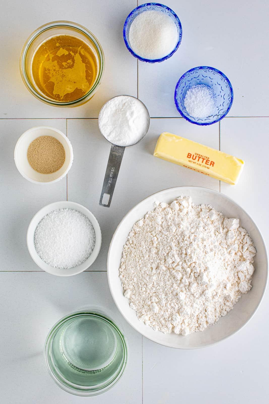 Ingredients needed to make Soft Pretzels
