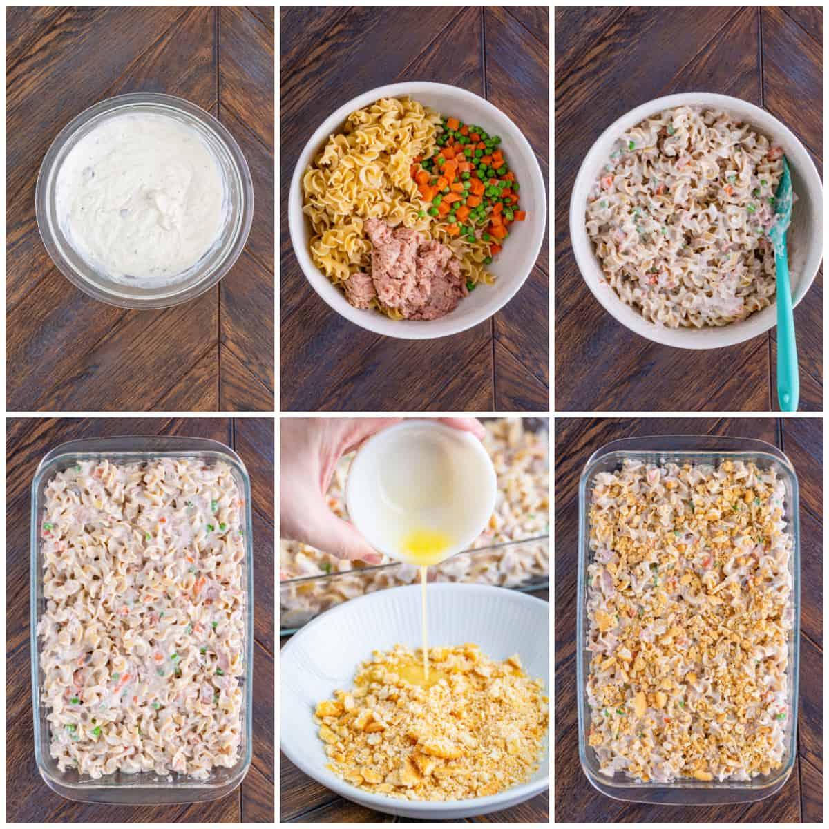 Step by step photos on how to make a Tuna Noodle Casserole Recipe.
