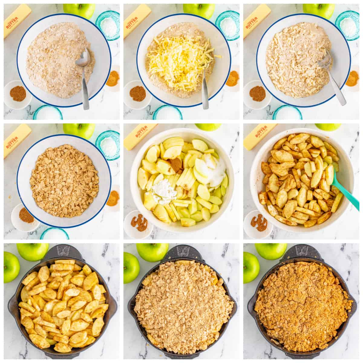 Step by step photos on how to make Easy Apple Crisp.