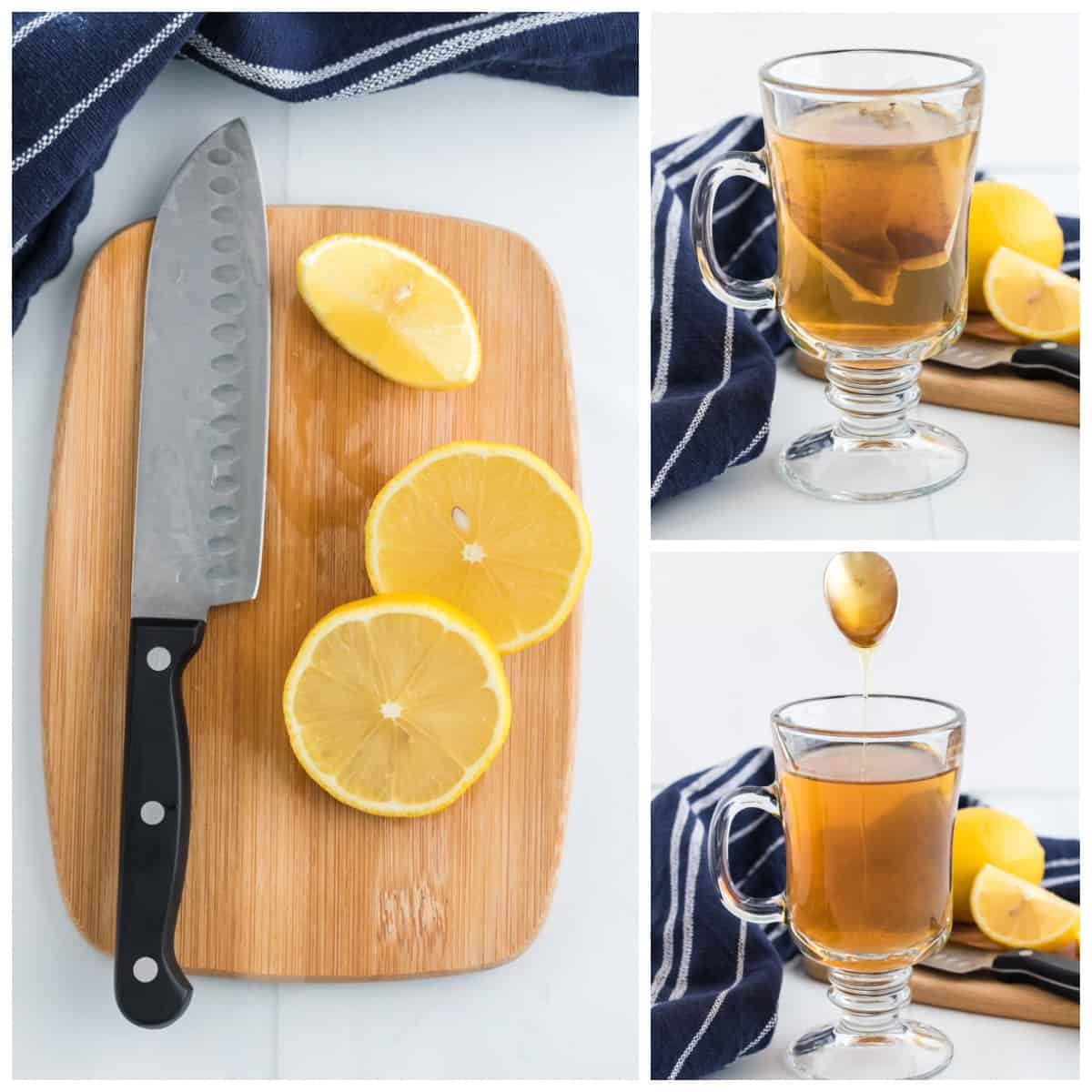 Step by step photos on how to make a Hot Toddy Recipe.