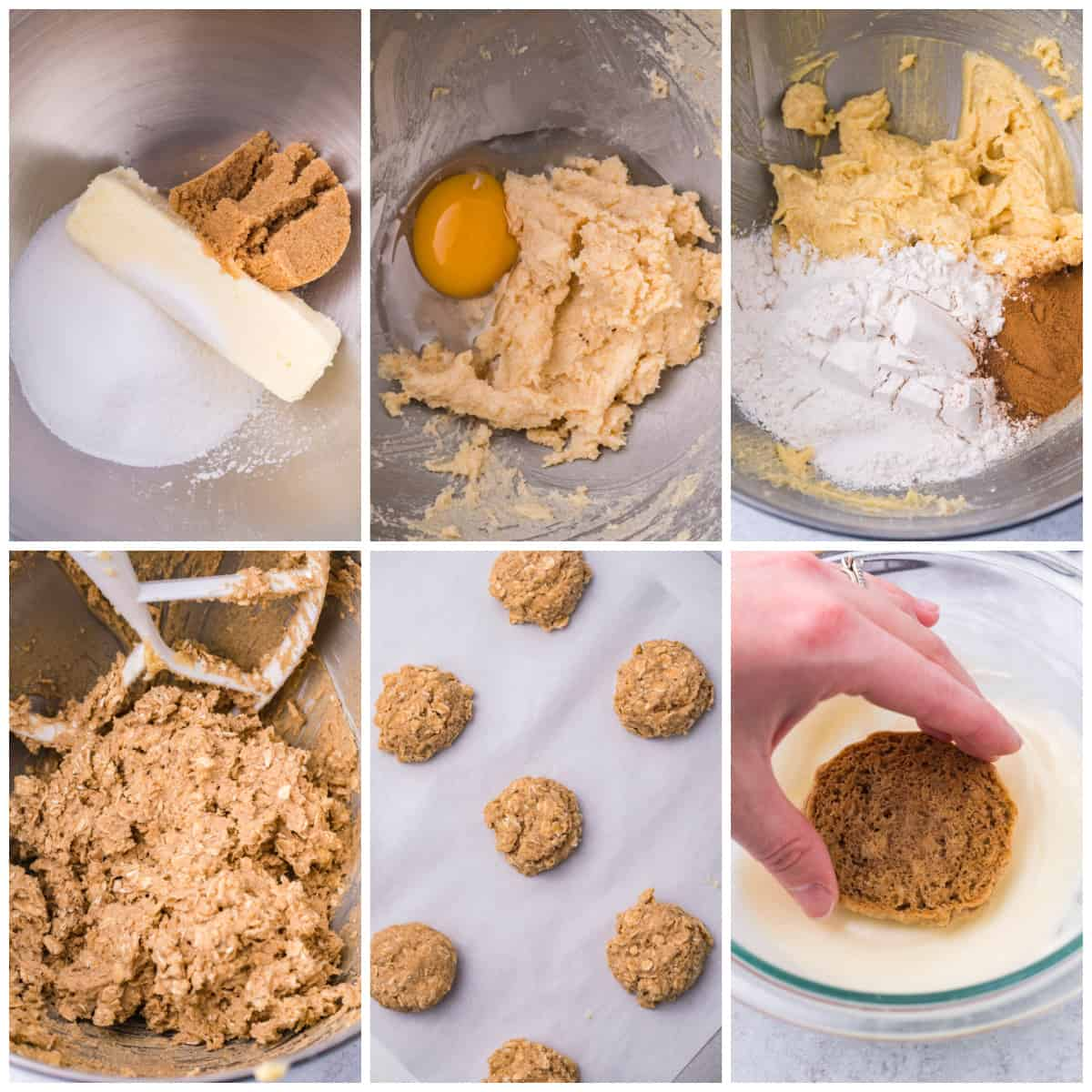 Step by step photos on how to make Iced Oatmeal Cookies