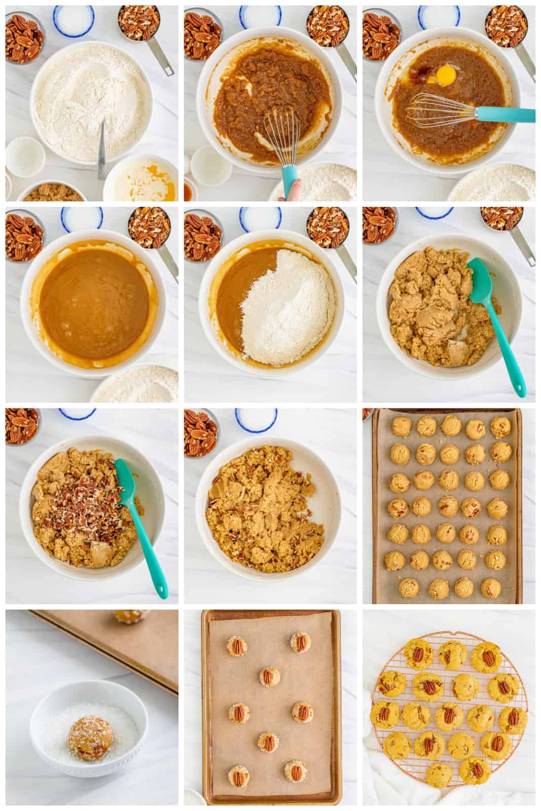 Step by step photos on how to make Butter Pecan Cookies.