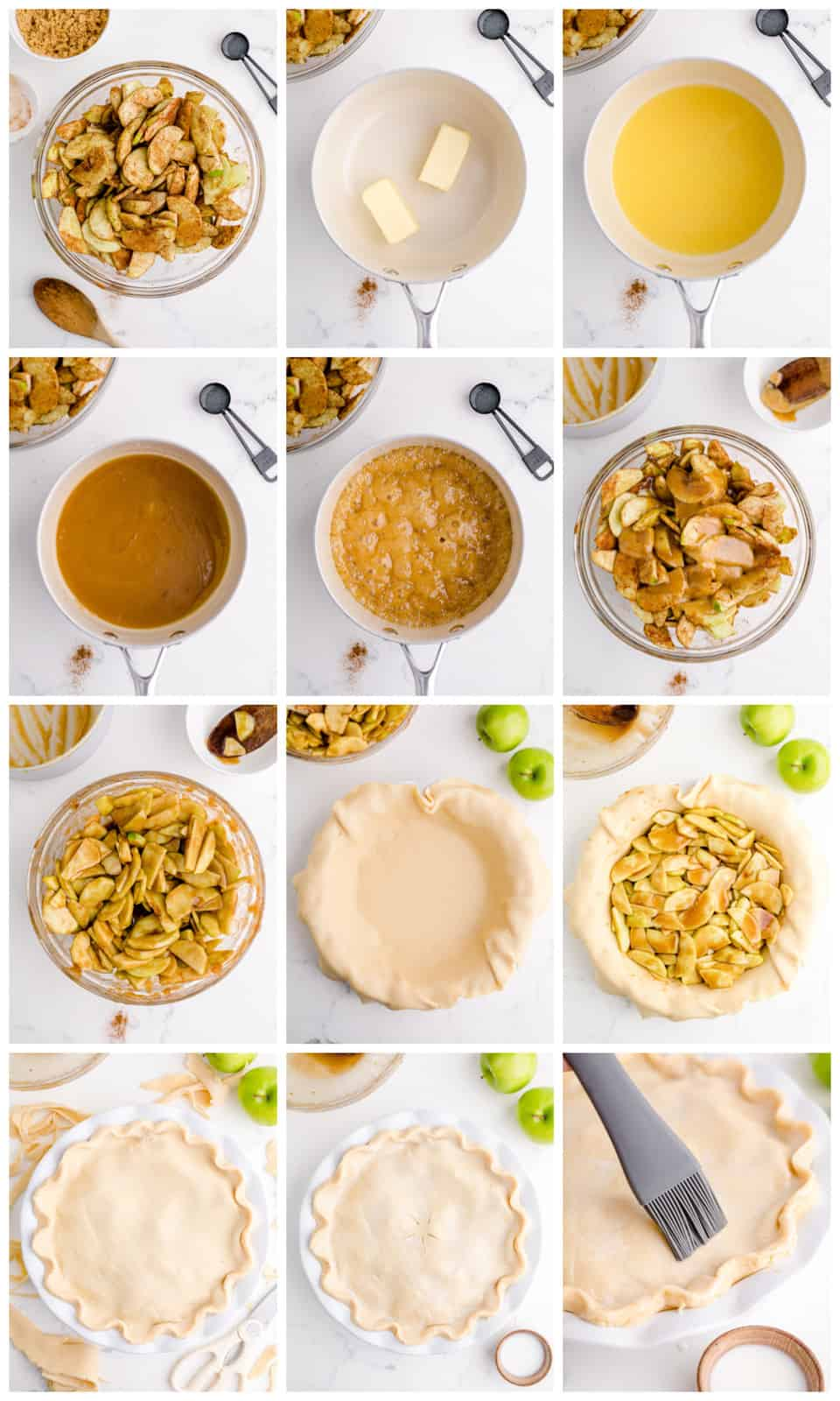 Step by step photos on how to make Apple Pie.