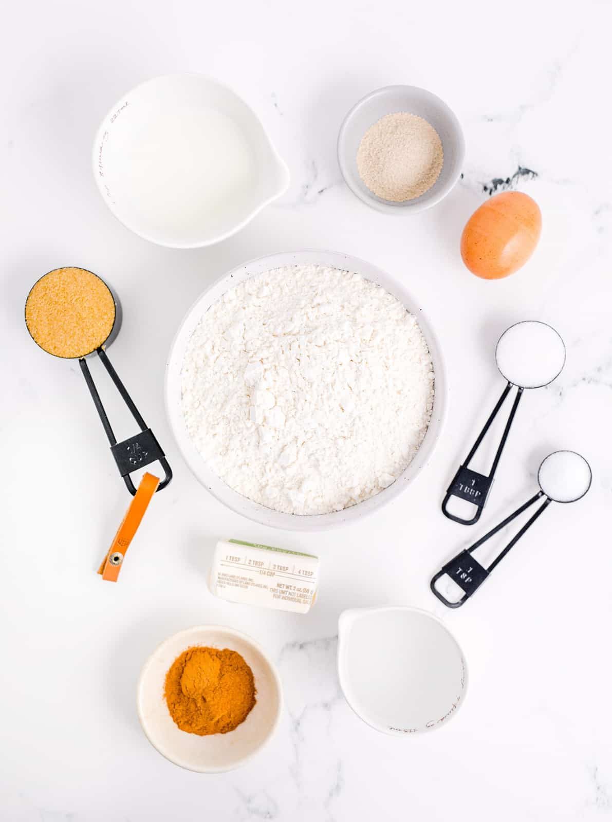 Ingredients needed to Make Cinnamon Swirl Bread