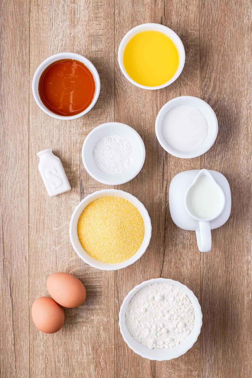 Ingredients needed to make Cornnbread Muffins