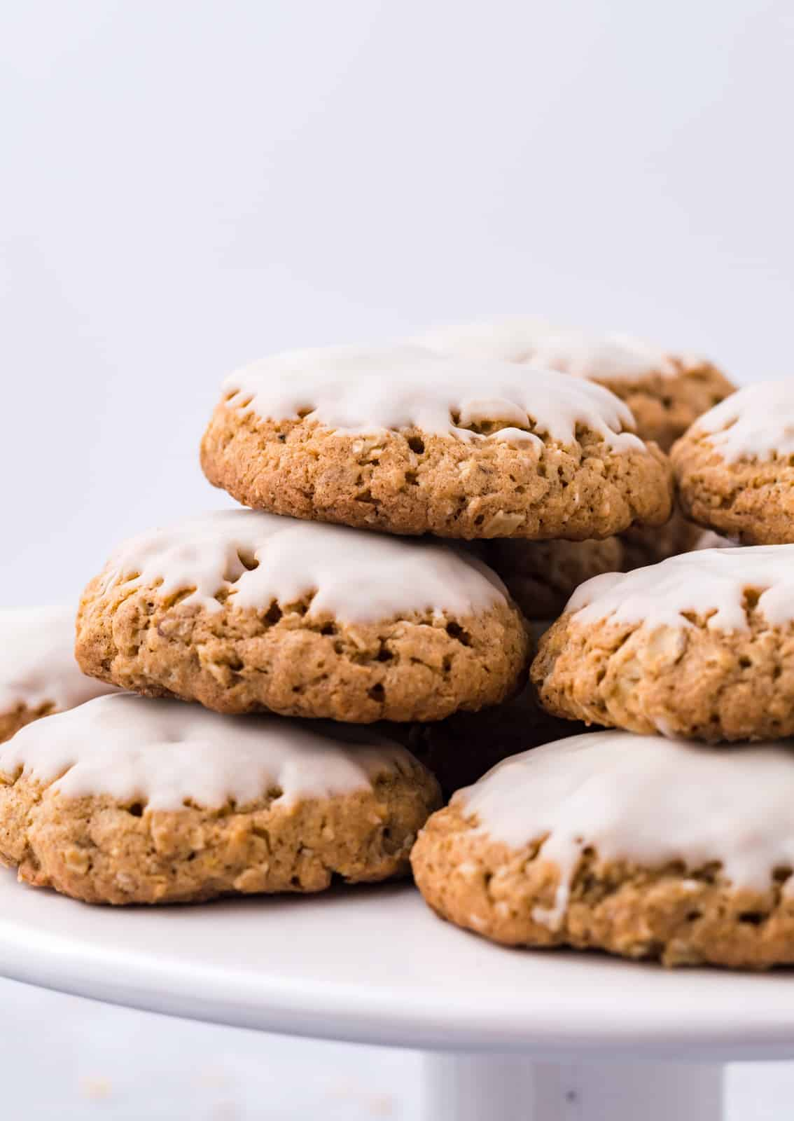 Side view of Cookies on stand.