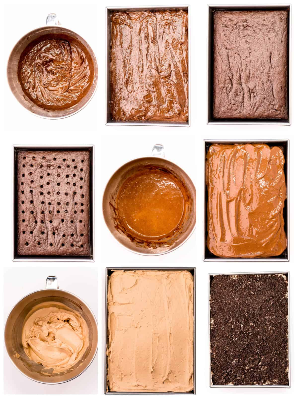 Step by step photos on how to make a Halloween Dirt Cake.
